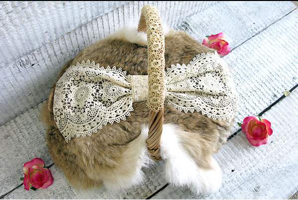cute baskets rabbit